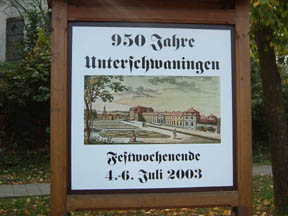 1000 year commemoration sign