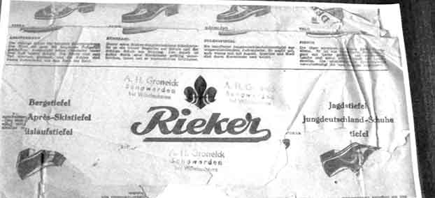 Rieker newspaper head