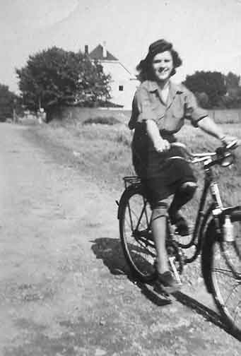 Lady on bike
